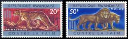 32A/32B* - FAO - NON EMIS / NIET UITGEGEVEN - Panthère / Panter / Panther - Lion / Leeuw / Löwe - 1962-69: Nuevos