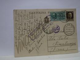 SIENA  E PROV. --ANNULLO  TONDO --RIQUADRATO -FRAZIONALE --- ABBADIA S. SALVATORE  -- 22-2-43 - Storia Postale