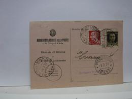 SIENA  E PROV. --ANNULLO  TONDO --RIQUADRATO -FRAZIONALE --- QUERCEGROSSA --- 9-7-37 - Marcofilía