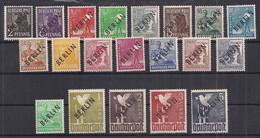 Allemagne – Deutschland - Germany - Berlin – N°1-20 NCh/MH - Unused Stamps