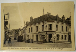 4/CPA - 28 Maintenon - Rue Collin-d'Harleville -Tabac Café - Maintenon