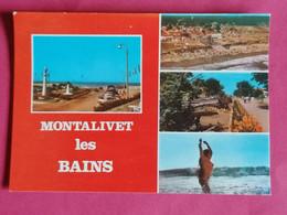 33 MONTALIVET LES BAINS MULTIVUES LES ALLEES LA PLAGE VUE DU CIEL AVENUE PRINCIPALE NATURISME  CARTE PHOTO      09/11/20 - Altri Comuni