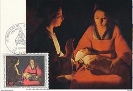 Carte Maximum De 1966 GEORGES DE LA TOUR . N° YT 1479 - 1960-69