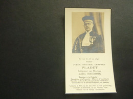 Doodsprentje ( 3721 )  Pladet / Vertommen  -  Mol  Etterbeek  1939 - Avvisi Di Necrologio