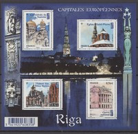 F 4938 Neuf ** Y.T. RIGA Capitals Européennes Feuillet FRANCE - Ongebruikt