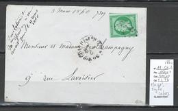 France- CP Paris 87 - Rue Alexandre Dumas - 1900 Pour Le BRESIL - 1877-1920: Semi-Moderne
