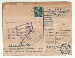 """10404""""S.T.I.P.E.L.-FATTURA COMMERCIALE DEL 1937"""" ORIGINALE - Italy"""
