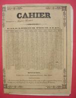 1847 RARE Cahier D'Ecole De Composition Lydia Laurens élève De Mlle Franck Montauban Imprimé Forestié Père & Fils - Book Covers
