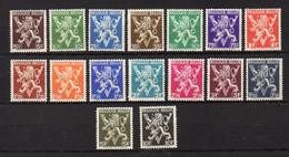 BELGIQUE    Neuf *    Y. Et T.     N° 674 / 689        Cote: 13,50 Euros - 1929-1937 Heraldic Lion