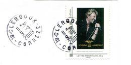 Montimbramoi Johnny Hallyday - Tour 66 - Oblitération Clergoux (19) Du 9-11-2009 - Personalizzati (MonTimbraMoi)