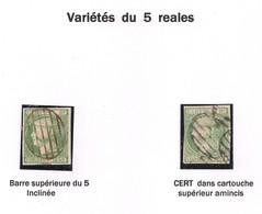 Espagne – Spain N°15, 2 Variétés Obl./used - Used Stamps