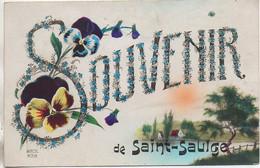 58 Souvenir De SAINT-SAULGE  Carte Fantaisie - Andere Gemeenten