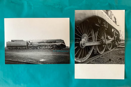 Locomotive SNCF 232 U1 - 2 Photos - 1949 / 1950 - Photo Train Chemin De Fer France - Trains