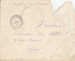 """1885 - Enveloppe( Mal Ouverte) Du Tonkin """"escadre De L'extrème..."""" + Cachet """"corps Exp Tonkin Levee N°8 + Autre Cachet. - 1877-1920: Semi-Moderne"""
