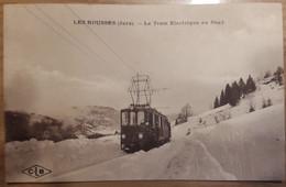 Carte Postale Les Rousses Le Tram Electrique Au Sagy 1923 - Andere Gemeenten