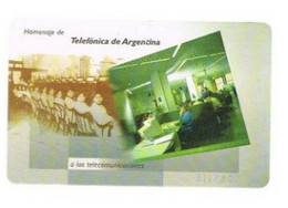 ARGENTINA  - TELEFONICA (CHIP) - 1995 OPERADORES   -  USED  -  RIF. 9160 - Telecom Operators