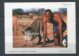 278 - NAMIBIE 1998 - Yvert BF 49 - Guepard Et Frank Frederiks - Neuf **(MNH) Sans Trace De Charniere - Namibië (1990- ...)