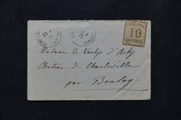 FRANCE / ALLEMAGNE - Alsace Lorraine Sur Enveloppe En 1871 Pour Boulay, Oblitération Homburg An Der Rossee - L 76489 - Alsace Lorraine