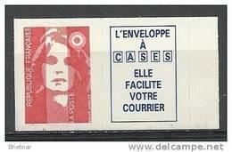 "FR Adhesif  YT 4a (2807a) Vignette "" Marianne Briat Sans Valeur "" 1993 Neuf - Adhesive Stamps"