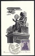 1965 Nicolaus Copernicus Monument In Warsaw, Poznan, International Year Of The Quiet Sun, Maximum Card - Cartes Maximum