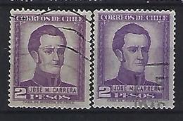 Chile  1956  Jose M. Carrera (o)  Mi.507 X+Y - Chile