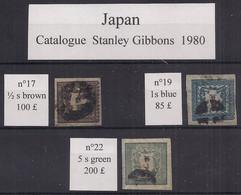 Japon : Stanley Gibbons  N°17-19-22 Obl/used , Bonnes Cotes - Used Stamps