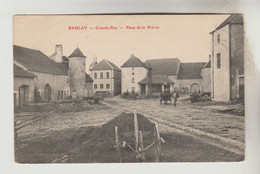 CPA BAULAY (Haute Saône) - Grande Rue Place De La Mairie - Other Municipalities