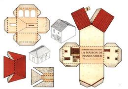 CPM - Maison De Manouvrier - IMAGERIE D'EPINAL - Edition Les Maisons Rurales Des Vosges - Speelgoed & Spelen