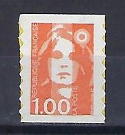 """FR Adhesif YT 8 (3009) """" Briat 1F00 Orange """" 1996 Neuf - Luchtpost"""