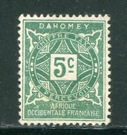 DAHOMEY- Taxe Y&T N°9- Neuf Sans Gomme - Nuevos