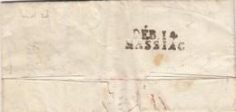 LETTRE. 8 OCT 1818. CANTAL. DEBOURSÉ. DEB.14/MASSIAC. DE PARIS POUR LA COMTESSE DE SRADT - 1801-1848: Voorlopers XIX