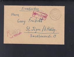 Alliierte Besetzung R-Brief 1946 Bad Kissingen Nach St. Ilgen - American/British Zone