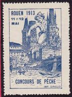 VIGNETTE  Concours De PECHE  ROUEN 11 Mai 1913 76 ROUEN -  T44 Seine Maritime - Otros
