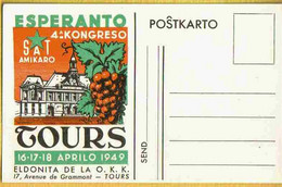 1949 TOURS : ESPERANTO 4° CONGRES En Esperanto - Tours
