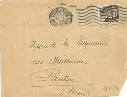 INDRE & LOIRE - Dépt N° 37 = TOURS GARE 1946 = FLAMME FLIER Muette ' 7 Lignes Ondulées' - Maschinenstempel (Werbestempel)