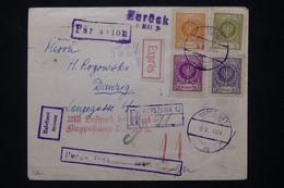 POLOGNE - Enveloppe En Recommandé De Warszawa En 1924 En Exprès Et Par Avion Pour Danzig - L 76520 - Briefe U. Dokumente