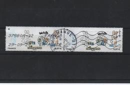 Paire Horizontale Du Timbre Lapins Crétins Gommés   Ob Ronde // - Used Stamps
