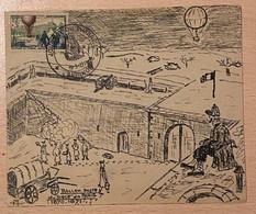 Enveloppe Décorée à La Main Siège De Paris Affranchie Oblitération Journée Du Timbre Avignon Vaucluse 1955 - Gedenkstempel