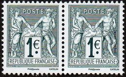 France N° 5094 P ** (soit 5095 Et 5094 En Paire, N Sous U Et B) 140 Ans Du Type Sage 1876 - Ungebraucht