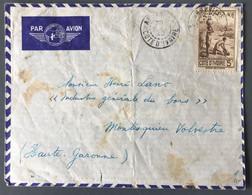 Cote D'Ivoire N°130 Sur Enveloppe D'Agboville 28/09/1942 - (C2023) - Briefe U. Dokumente