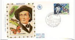 FDC Monaco 1973  Jean Henri Fabre N° YT 923 - FDC