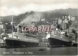 CPM Genova Transatlantici In Porto Bateaux - Genova