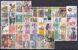 ESPAÑA 1986 Nº 2825/2873 AÑO COMPLETO USADO 47 SELLOS,1 HB,3 CARNETS - Full Years