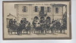 DEP. 74 Mairie De Passy Mariage Photo Collée Sur Carton - Altri