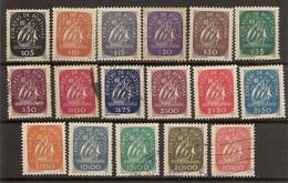 PORTUGAL  Yvert  628/644*/(º) Serie Completa  Caravela  1943  NL1608 - Unused Stamps