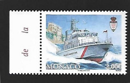 Monaco 2020 - Yv N° 3253 ** - Nouvelle Embarcation De La Police Portuaire - Ungebraucht
