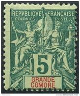 Grande Comore (1897) N 4 * (charniere) - Neufs