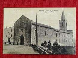 12 - CARTOLINA  PERUGIA CHIESA DI S. GIULIANA ORA OSPEDALE MILITARE - Perugia