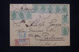 FINLANDE - Enveloppe En Recommandé De Nystad En 1906 Pour L 'Italie Via Turku ( Occupation Russe )  - L 76541 - Storia Postale