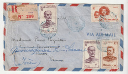 Lettre Recommandée Madagascar / Ambatosoratra ,1948 - Brieven En Documenten